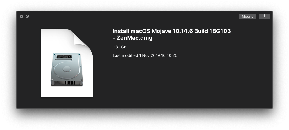 1. Installer 18G84 ZenMac Properties