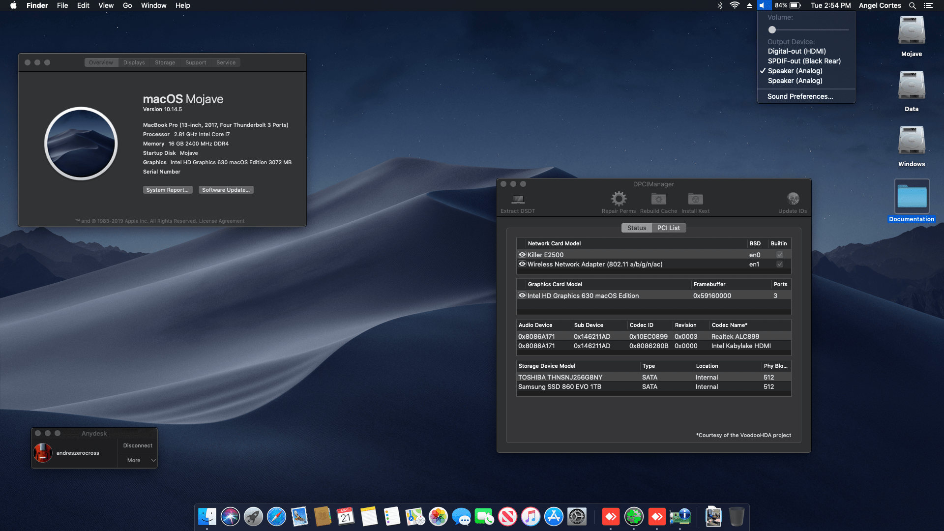 Success Hackintosh macOS Mojave 10.14.5 Build 18F132 at MSI GS63VR 7RF Stealth Pro